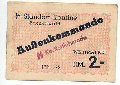 Germany Buchenwald no date 2 Marks Verticle M Campbell 3949a F&F GE.147a EF-AU
