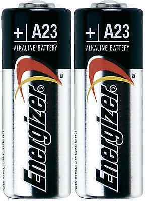 2 x Energizer A23 Battery 12Volt 23AE 21/23 23A 23GA MN21 12v NEW Sealed