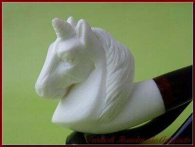 HORSE BLOCK Meerschaum Smoking Pipes Pipa 海泡石斗 pipe écume de Mer W case 1649