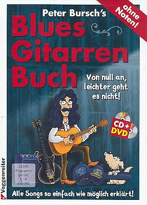 Peter Bursch's Blues-Gitarrenbuch (+DVD und CD ) + 1 Original Sharkfin Plec