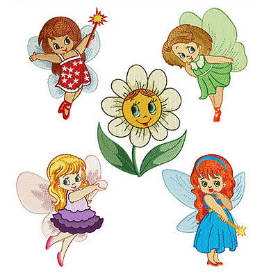 "ABC Designs Fairy Land Machine Embroidery Designs SET 4""x4"" hoop - 5 designs"