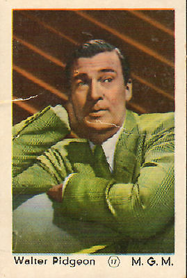 DUTCH MOVIE STAR GUM CARDS - No. 017 WALTER PIDGEON