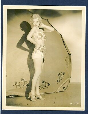 SEXY LITTLE BLONDE - EARLY CHEESECAKE - EXC COND - SILENT ERA OR 1930s - CHSK