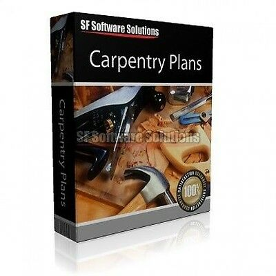 324 Quality Woodworking / Carpentry Plans&tips On Cd. Plenty Of Projects Inside!