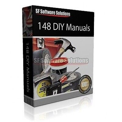 Diy Enthusiast? 148 Diy Printable Inscruction Manuals On Cd. 750 Pages!
