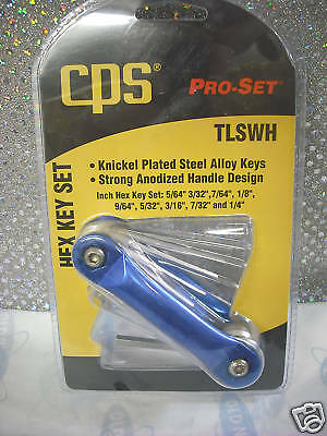 CPS, CPS PRODUCTS, Hex Key Set, PRO-SET,  Knickel Plated Steel Alloy Keys