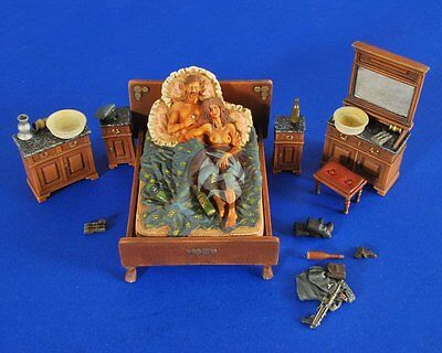 "Verlinden 1/35 ""Rest and Recreation"" German Soldier in Bed w/Girl (2 Figs) 2474"