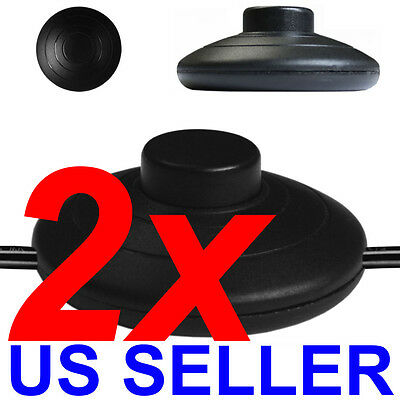 TWO (2) Inline Lamp Foot Switch Power Light FootSwitch