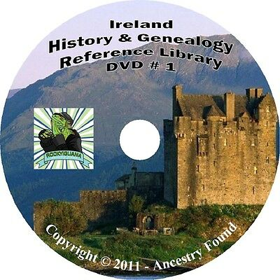 326 books IRELAND History & Genealogy Family Tree on 3 DVDs ! Compare -Best Deal