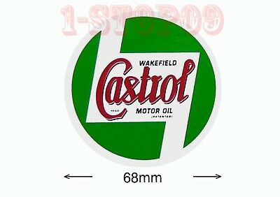 "2x CASTROL Wakefield Motor Oil Collection Decal Sticker ""FREE P&P"""