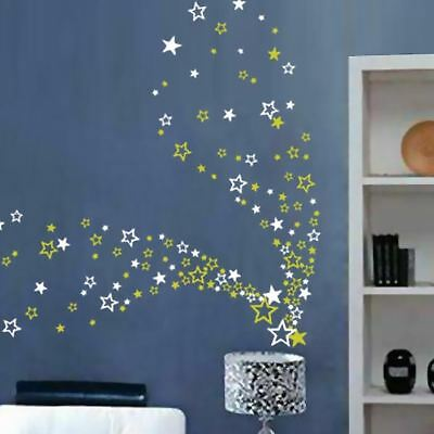 Up to 104 Stars Bedroom Bathroom Kitchen Wall Art Window Stickers Kids Decals