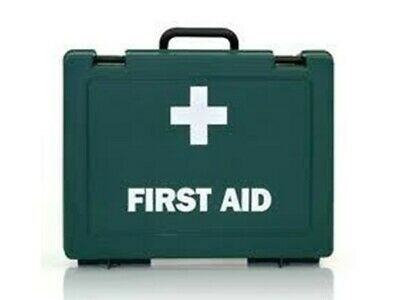EMPTY First Aid Kit Box 180 x 270 x 90mm with L shaped Hanging Wall Bracket