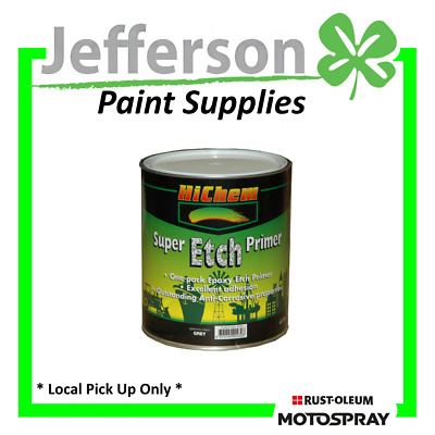 Super Etch Primer Grey 1L Epoxy Etch Primer Mild Steel Galvanised Steel Hichem M