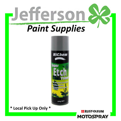 Super Etch Primer Grey 400Ml Aerosol Galvanised Steel Hichem Motospray