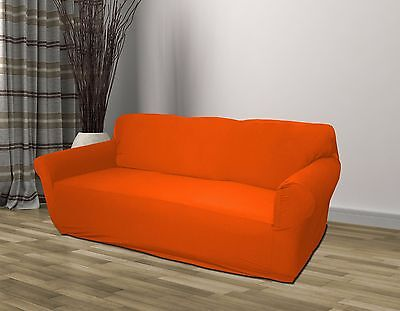 ORANGE JERSEY SOFA Stretch Slipcover, Couch Cover, Chair ...