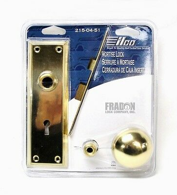 Ilco Unican Mortise Replacement Lock Brass New Skeleton 215-04-51 Clamshell