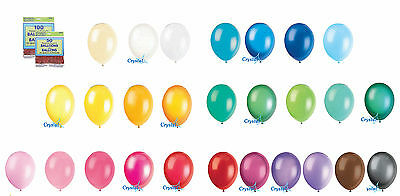 """50 X 12"""" Latex Helium Quality Balloons For Party Wedding Birthday 27 Colours"""