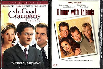 In Good Company (DVD, 2005, Widescreen) & Dinner With Friends (DVD, 2001) 2 DVDs