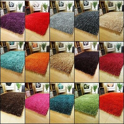 Large Small Sparkle Rugs Spaghetti Runners Thick Shiny Shaggy Lounge Shag Rug