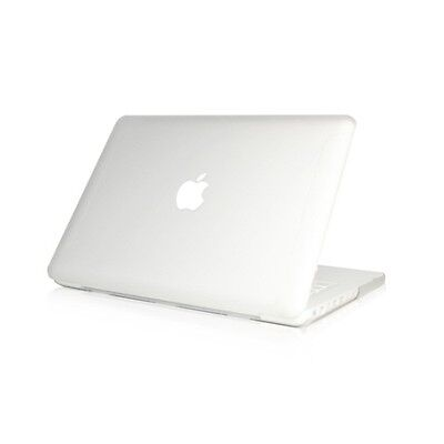"NEW Rubberized Clear Hard Case Cover for Macbook White 13""  A1342"