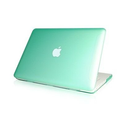 "NEW Rubberized Green Hard Case Cover for Macbook White 13""  A1342"