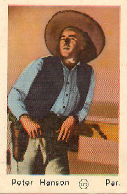 DUTCH MOVIE STAR GUM CARDS - No. 123 PETER HANSON