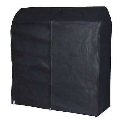Black Breathable Hanging Clothes Rail Cover Garment Storage 4ft Hangerworld