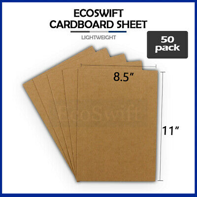 50 8.5x11 Chipboard Cardboard Craft Scrapbook Scrapbooking Sheets 8 1/2 x 11