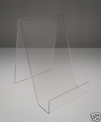 ACRYLIC BOOK STANDS WITH LIP IDEAL PHONE HOLDER MEDIUM SIZE MADE IN PERSPEX x 5