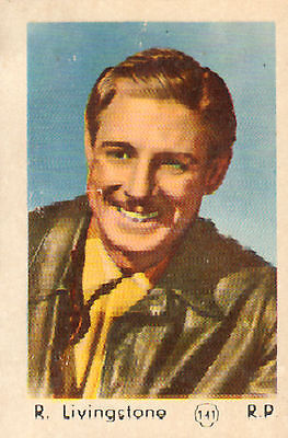 DUTCH MOVIE STAR GUM CARDS - No.141 R. LIVINGSTONE