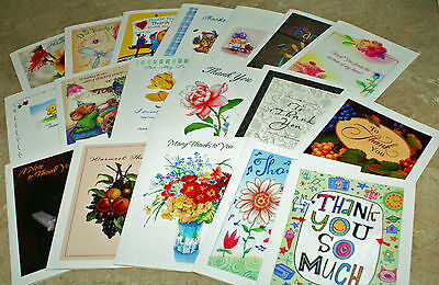 Thank You~Assortment~Small Cards~BLANK~ON~THE~INSIDE~40 count~FANTASTIC