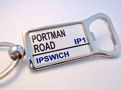 Ipswich Stadium Badge Street Road Sign Bottle Opener Keyring Gift