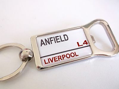 Liverpool Stadium Badge Street Sign Bottle Opener Keyring Gift