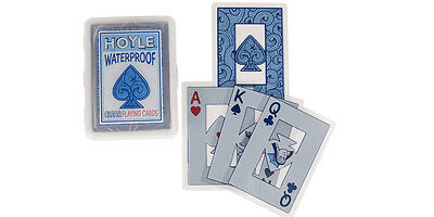 Hoyle Clear Deck Playing cards 100% Plastic, water proof and durable!
