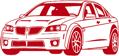 Pontiac G8 GT GXP Vinyl Decal Your Color Choice Sticker