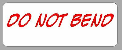 "60 Personalized Seller ""Do Not Bend"" Stickers Address Labels"