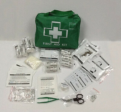 100+ Piece Deluxe First Aid Kit Bag, with childrens plasters + strapping tape