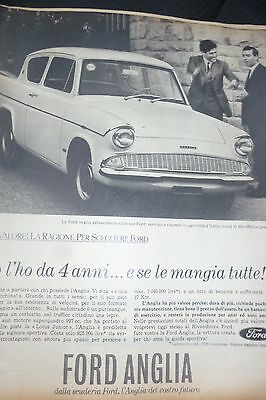 *advertising Pubblicita'  Ford Anglia (1°) 1964