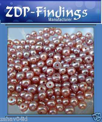 Quality Pink Freshwater Pearls Button Half drilled hole from 2-13mm