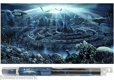 "AQUARIUM FISH BACKGROUND ""ATLANTIS WORLD"" Inc fixing gel design your aquascape"