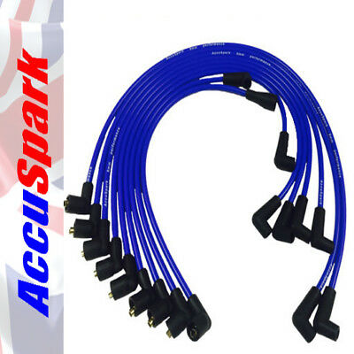 Ford  V8 289 & 302 Engines AccuSpark 8mm Blue Silicon Performance HT leads