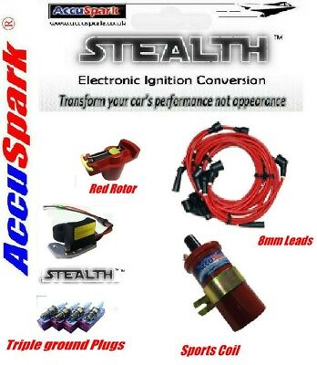 VW Camper/Beetle 009  Electronic Ignition ,Plugs,8mm Red  leads,Red Rotor,Coil