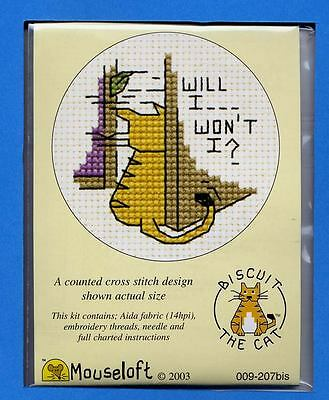 Biscuit the Cat X Stitch Kit by Mouseloft Will I,Wont I