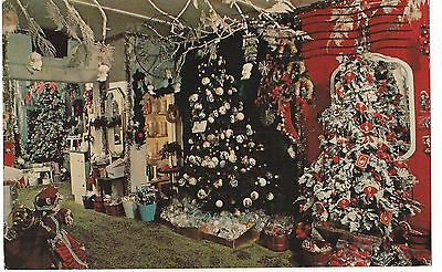 ROGER'S CHRISTMAS HOUSE& VILLAGE BROOKSVILLE, FL USED POSTCARD Vintage FREE SHIP