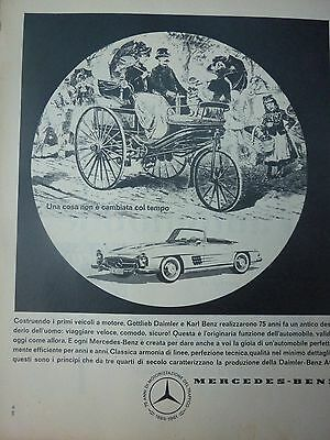 ADVERTISING PUBBLICITA'  MERCEDES  daimler e benz.....1961