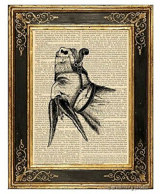 Dual Personality Art Print on Vintage Book Page Home Office Hanging Decor Gifts