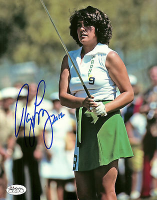 Nancy Lopez Hand Signed 8x10 Photo LPGA Golf Autograph JSA Authenticated