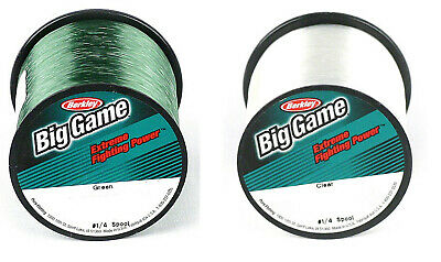 Berkley Trilene Big Game Fishing Line Green 8lb-60lb or Clear 10lb-25lb