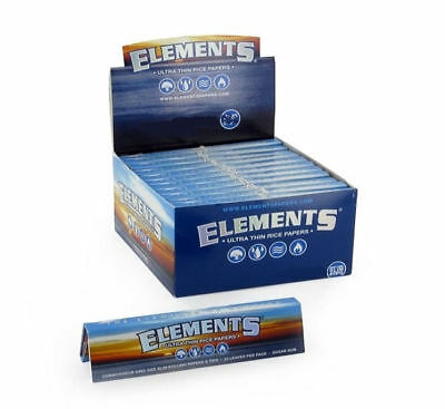 25 ELEMENTS ULTRA THIN RICE Rolling Papers KING SIZE Half Box Cigarette Paper