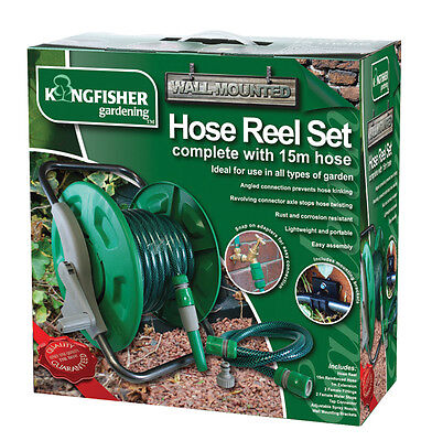 Hose - Hose Reel Set - 15M  Wall Mounted Or Free Standing hose pipe accessories